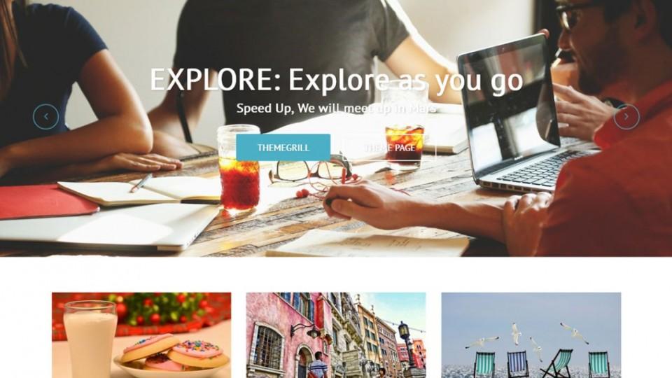 Explore WordPress Theme Download