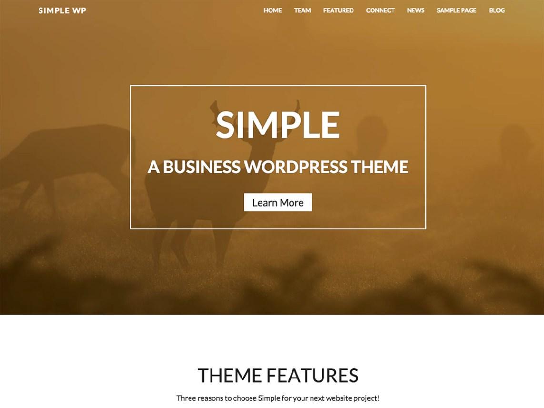 WP Simple WordPress Theme Download