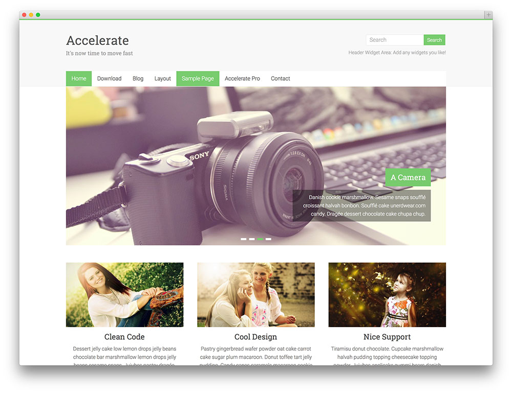Accelerate Free WordPress Themes Download