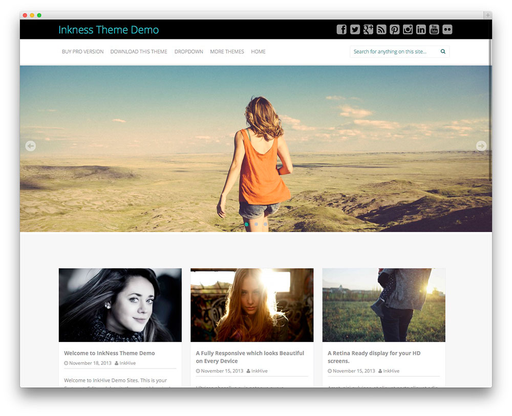 Inkness WordPress Themes Download
