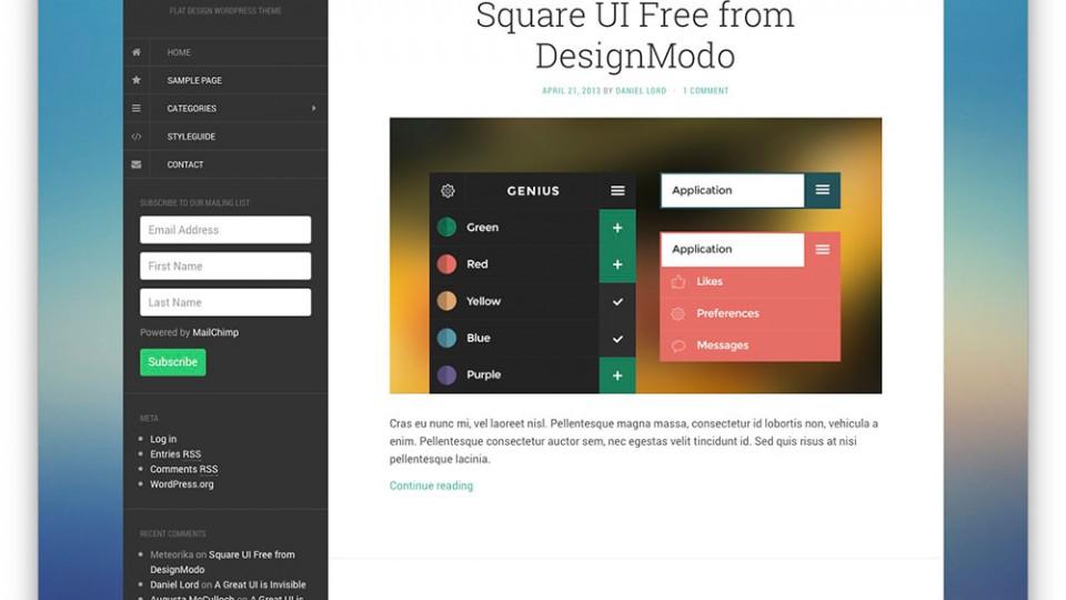 Flat WordPress Themes Download