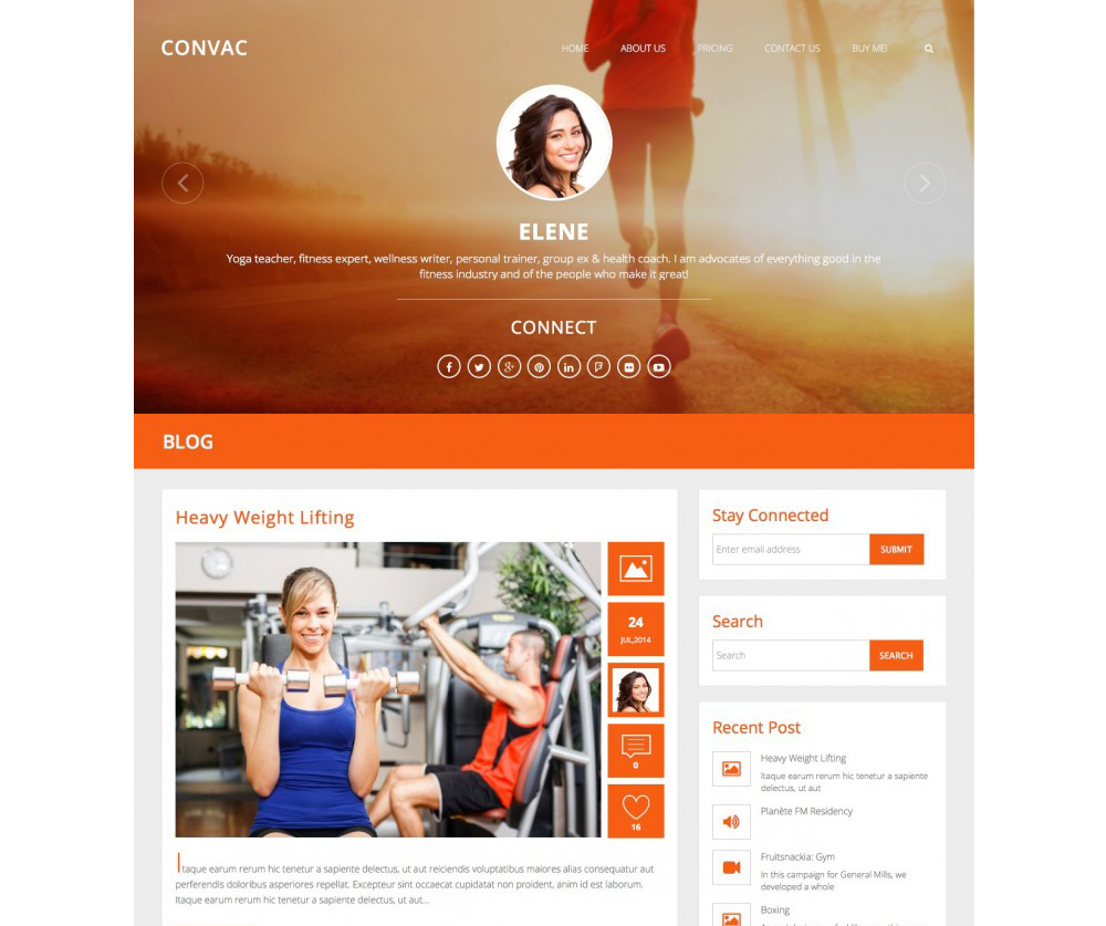 Convac Lite WordPress Theme Download