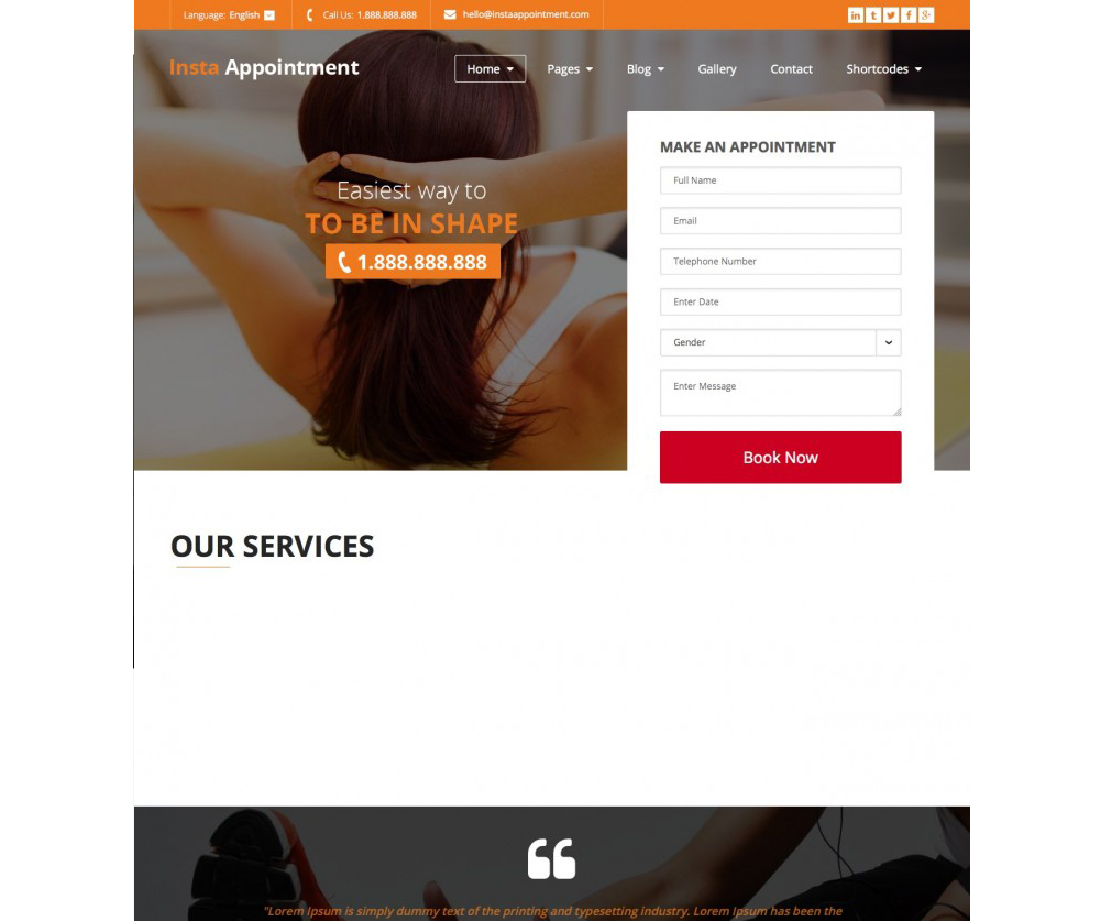 InstaAppointment – Responsive Appointment Booking WordPress