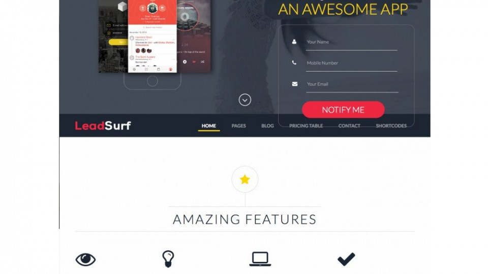 LeadSurf – Lead Capture Landing Page WordPress Theme