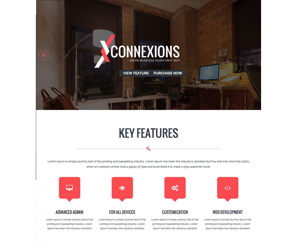 onnexions – Corporate Portfolio OnePage WordPress Theme