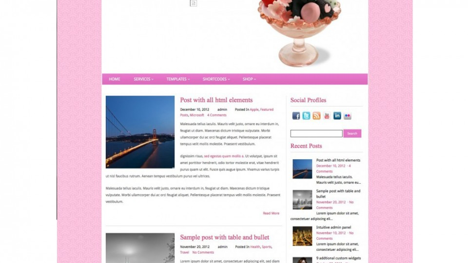 Ice Magic WordPress Theme