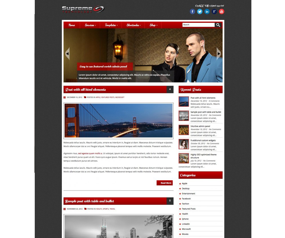 Supreme Technology WordPress Theme