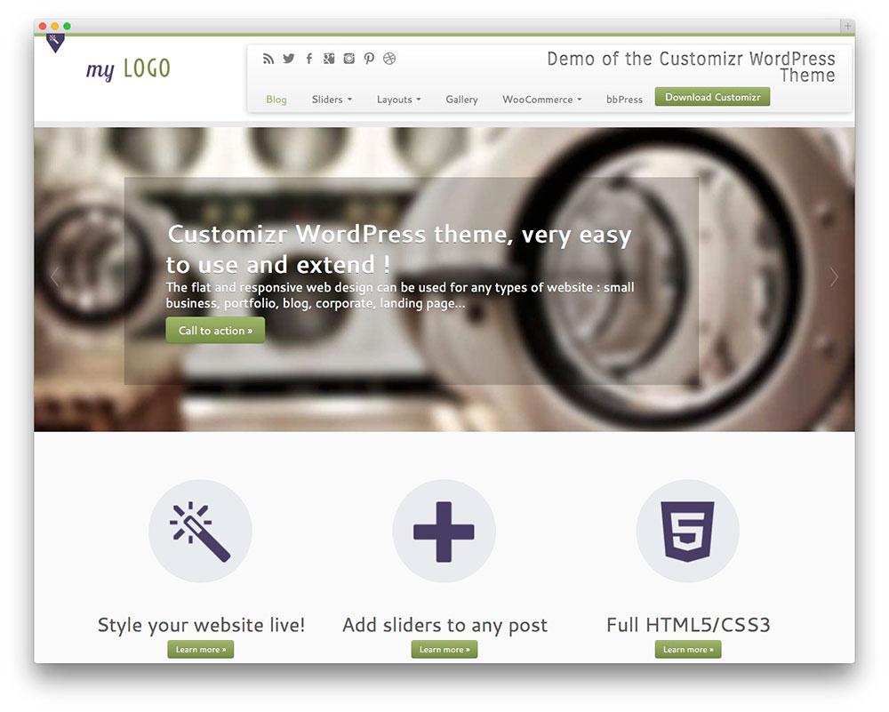 Customizr WordPress Themes Download