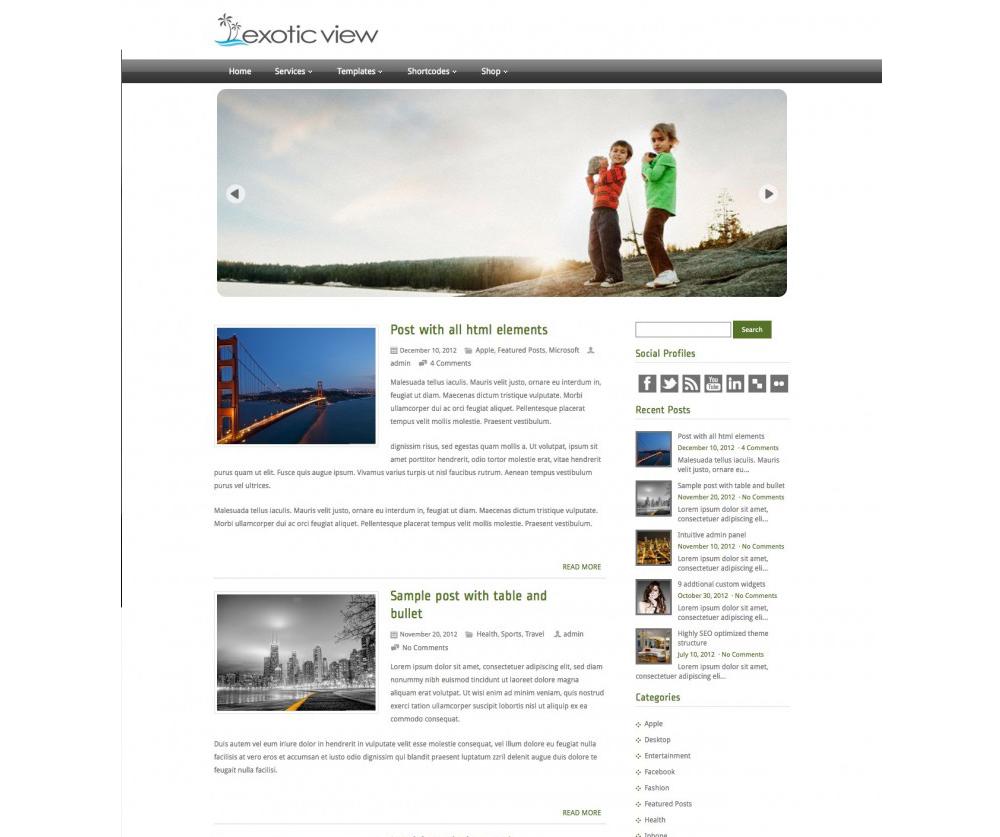 ExoticView WordPress Theme