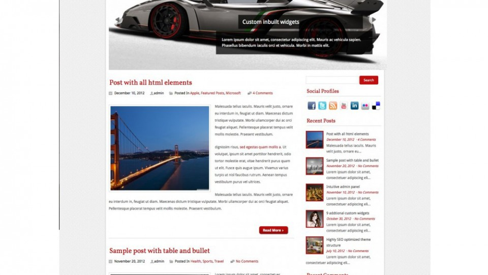 Optronica WordPress Theme