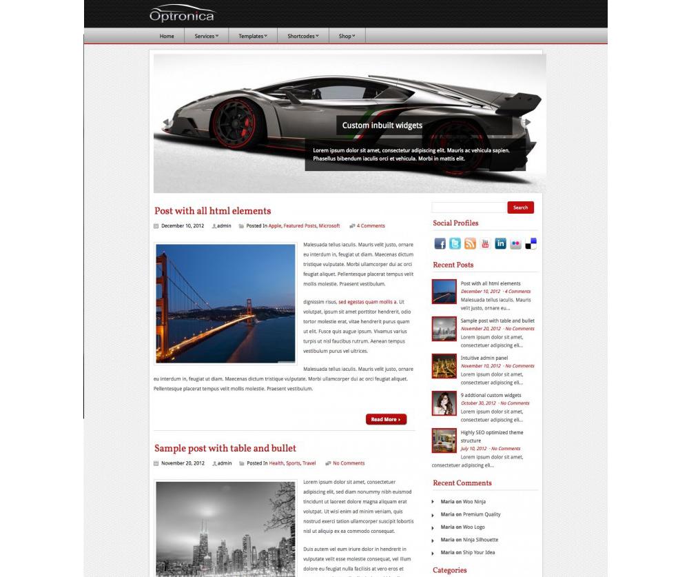 Optronica WordPress Theme