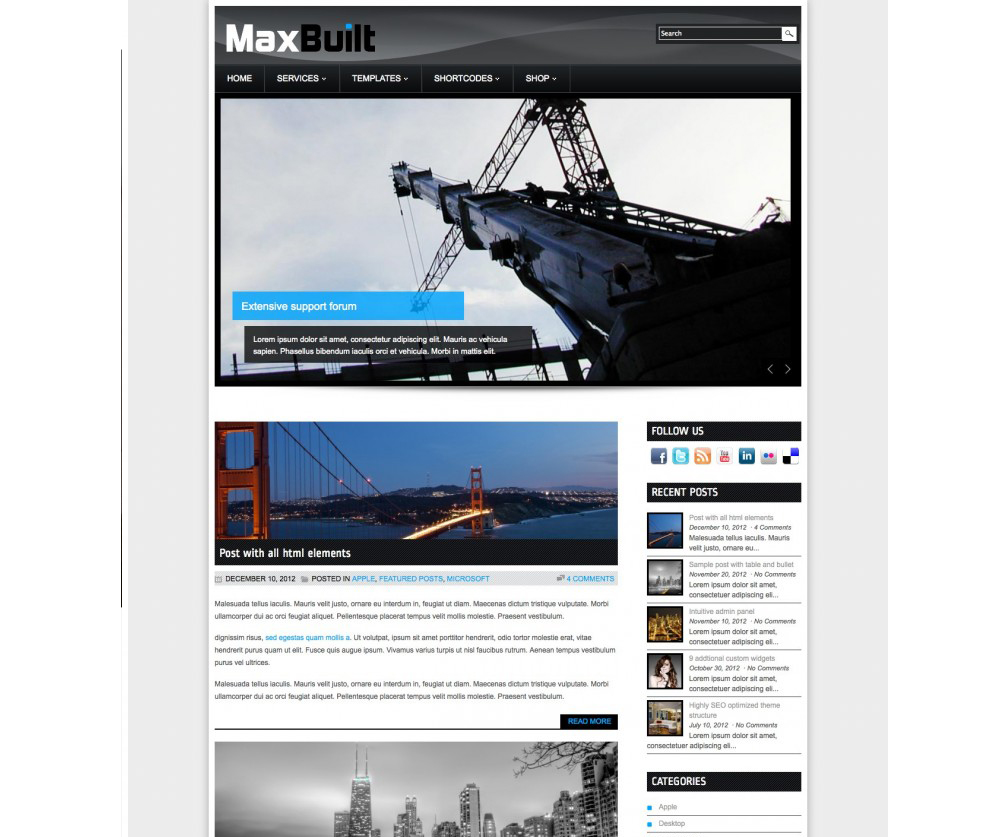 MaxBuilt by WordPress Themes