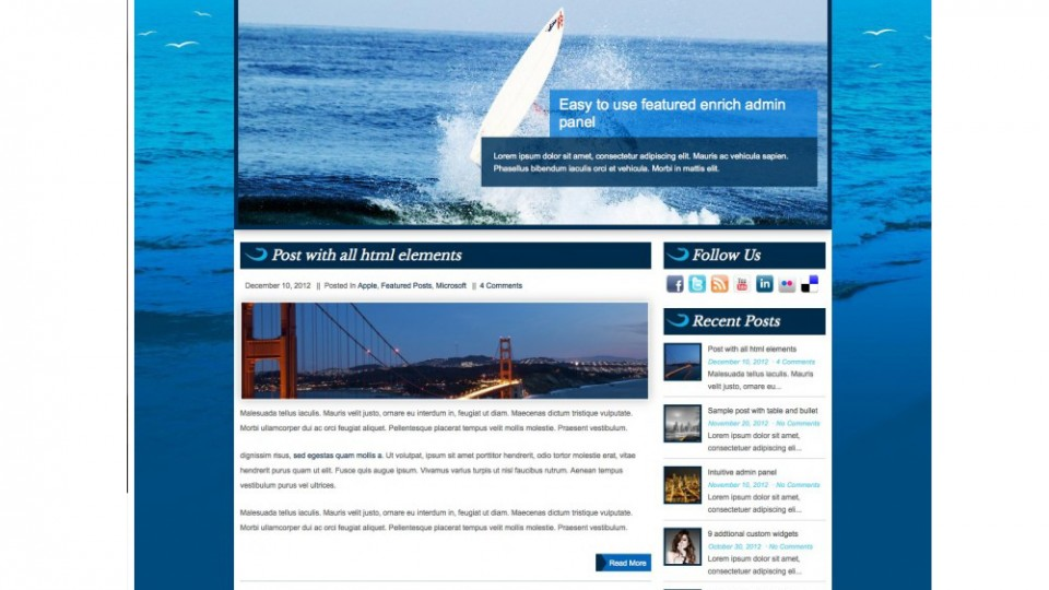 Surfer WordPress Themes Download