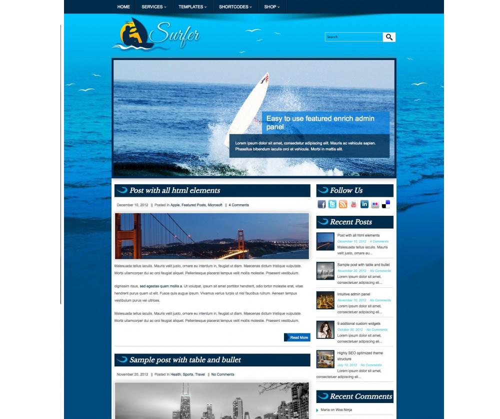 Surfer WordPress Themes Download