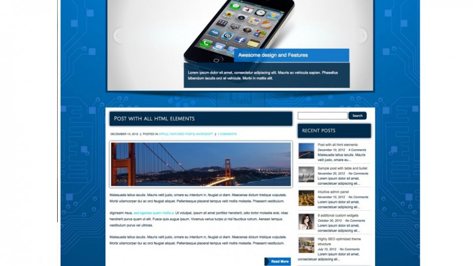 MobiTalk WordPress Themes Download