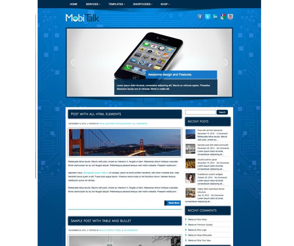 MobiTalk WordPress Themes Download