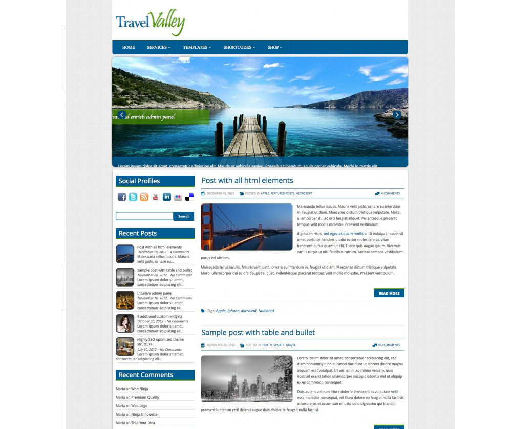 Travel Valley WordPress Download