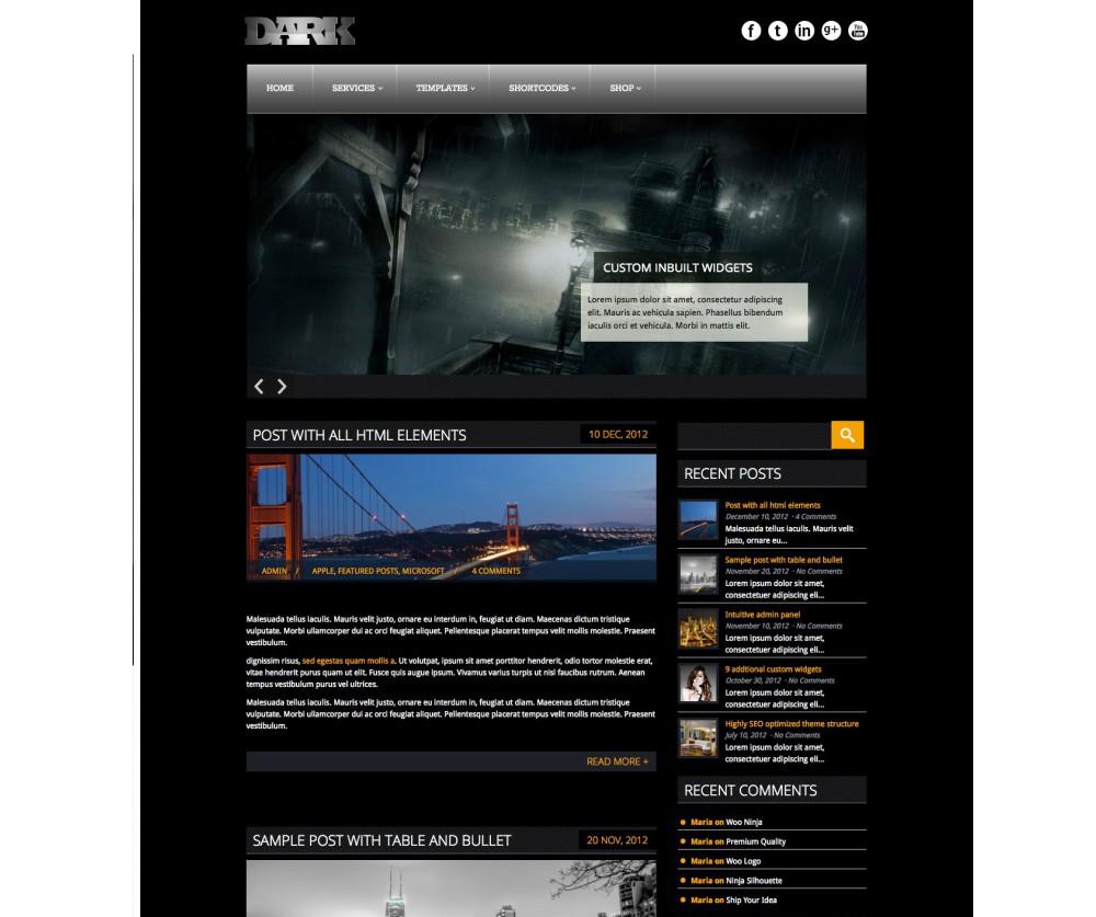 Dark WordPress Themes Download