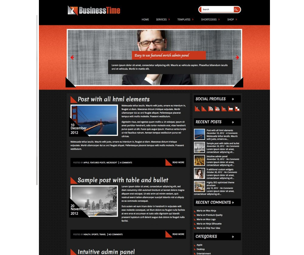 BusinessTime WordPress Theme Download
