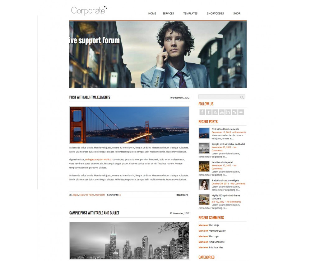 Corporate WordPress Theme Download