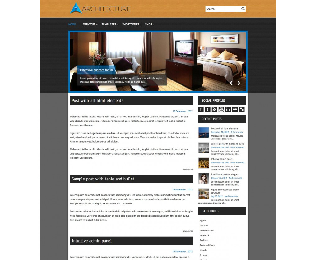 Architecture WordPress Theme Download