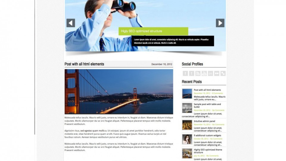 BusinessDream WordPress Theme