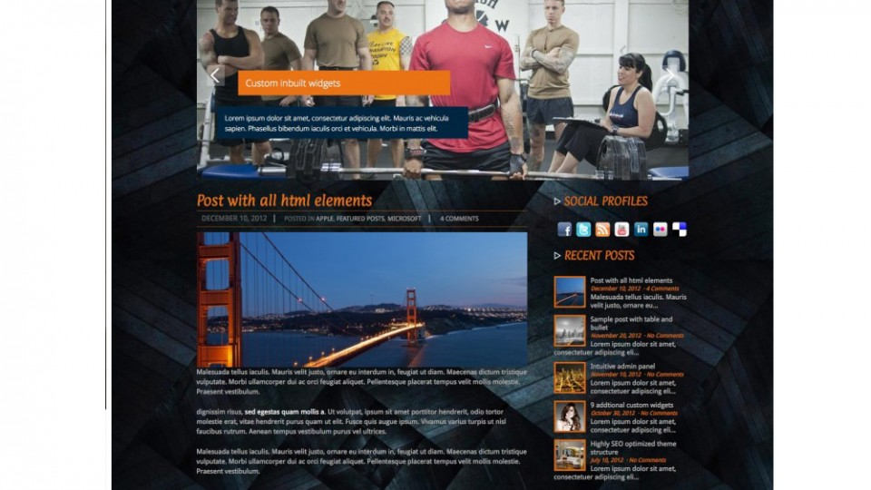 Fitness WordPress Theme Download