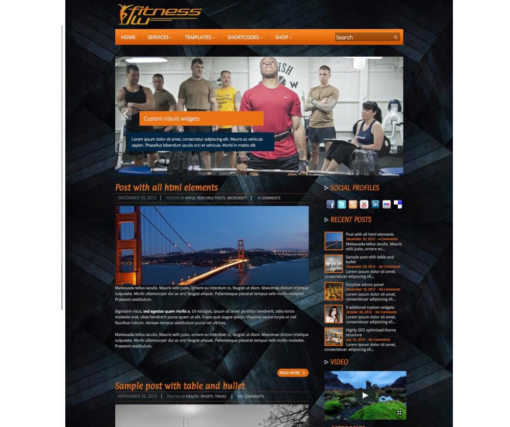 Fitness WordPress Theme Download
