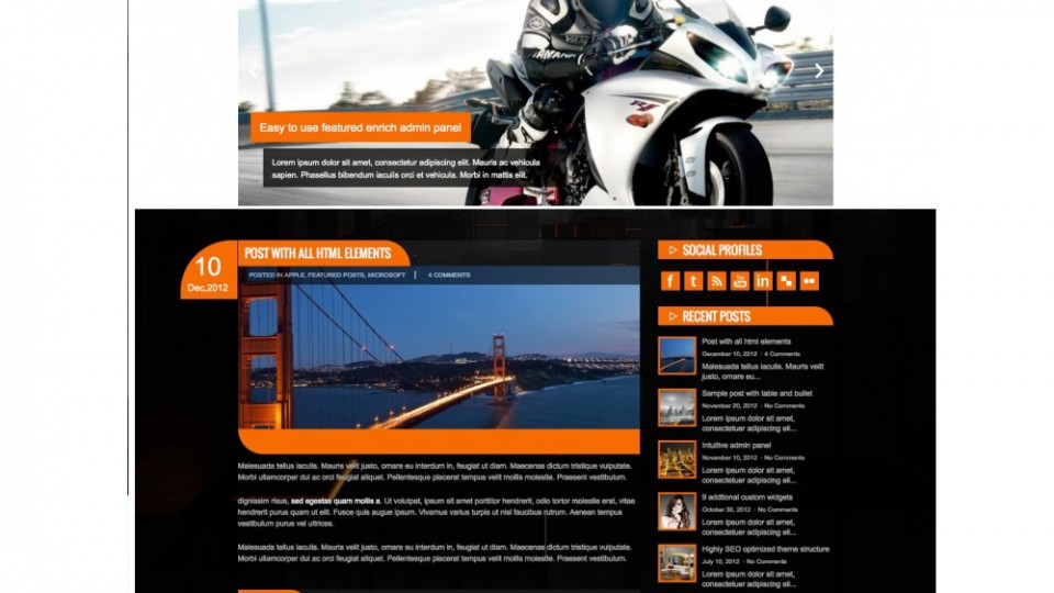 MotorBike WordPress Theme