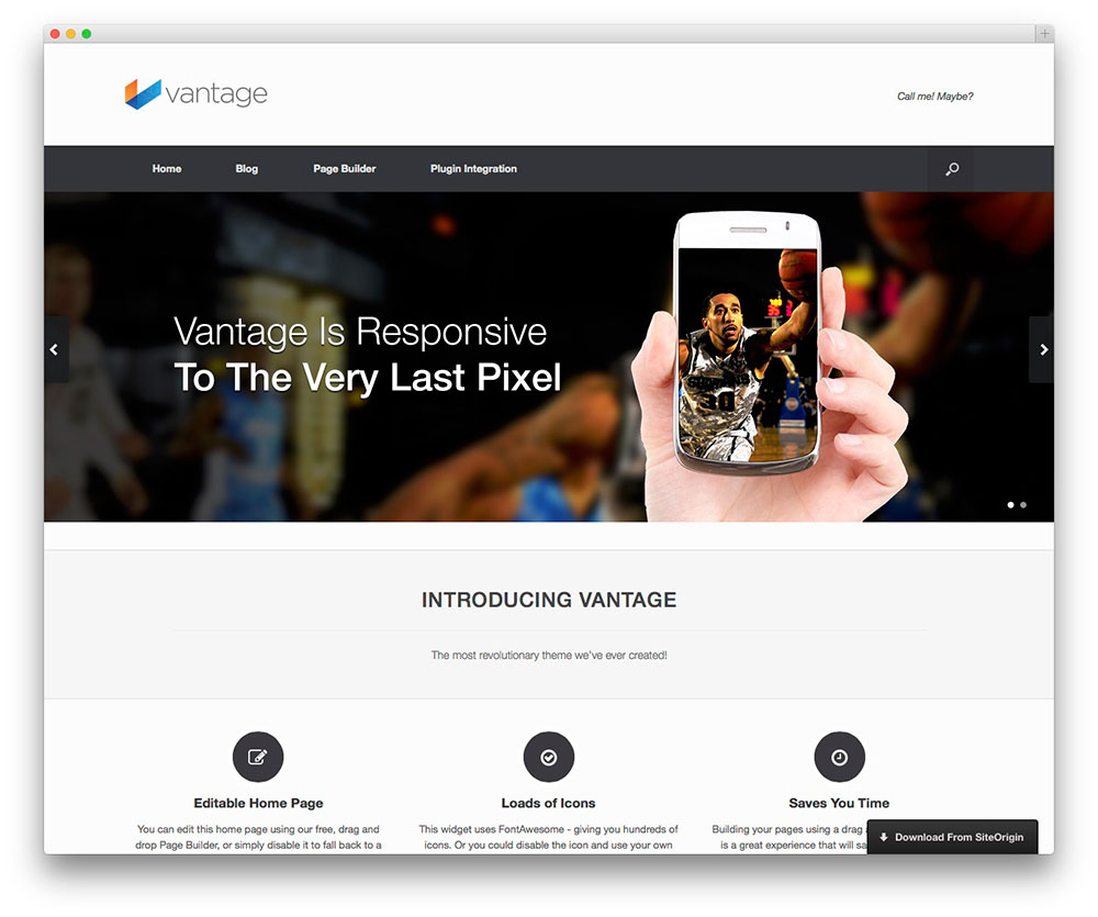 Vantage WordPress Themes Download