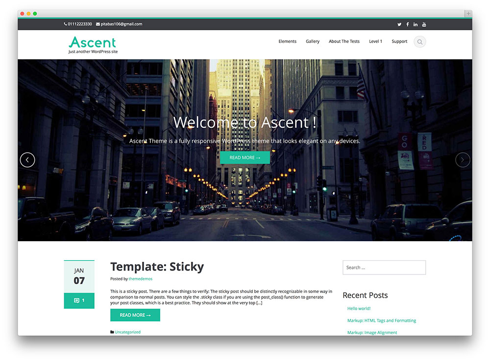 Ascent WordPress Themes