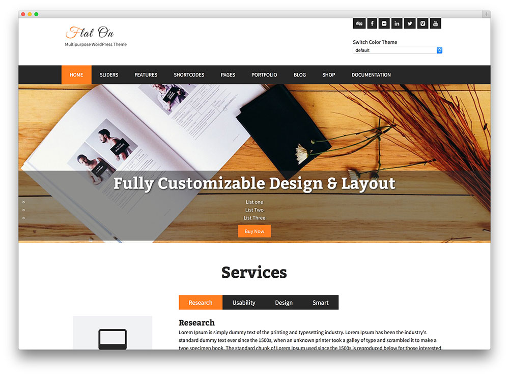FlatOn WordPress  Themes Download