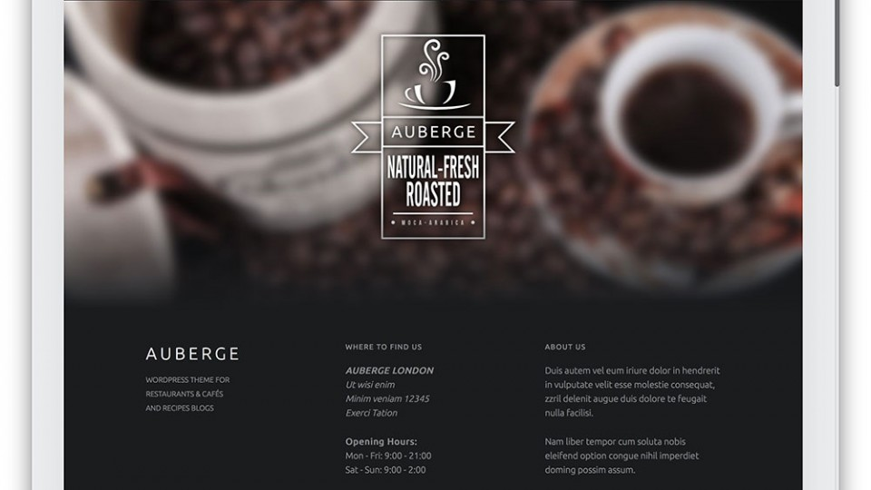 Auberge WordPress Themes Download