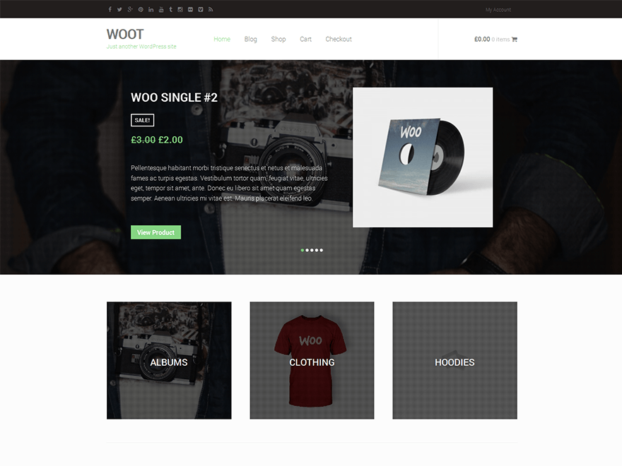 Woot is a WordPress eCommerce theme