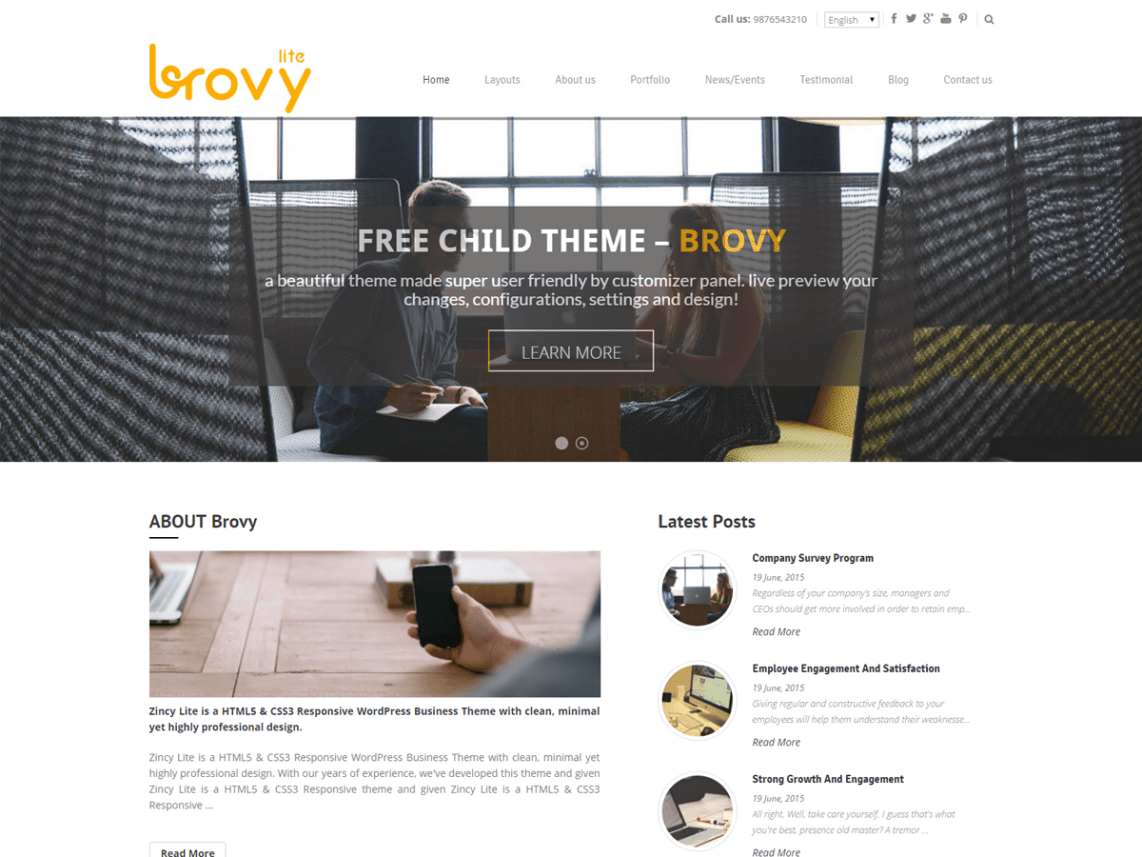 Brovy WordPress Theme
