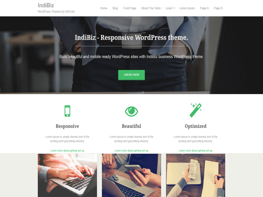IndiBiz WordPress Theme