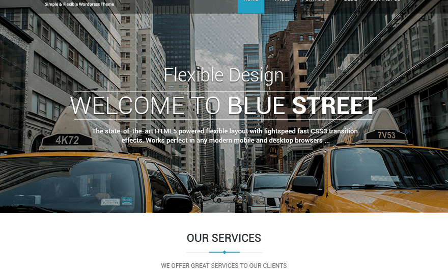 Bluestreet WordPress Theme