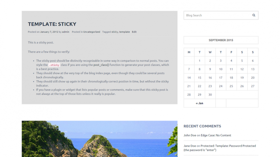 Bloga WordPress Theme
