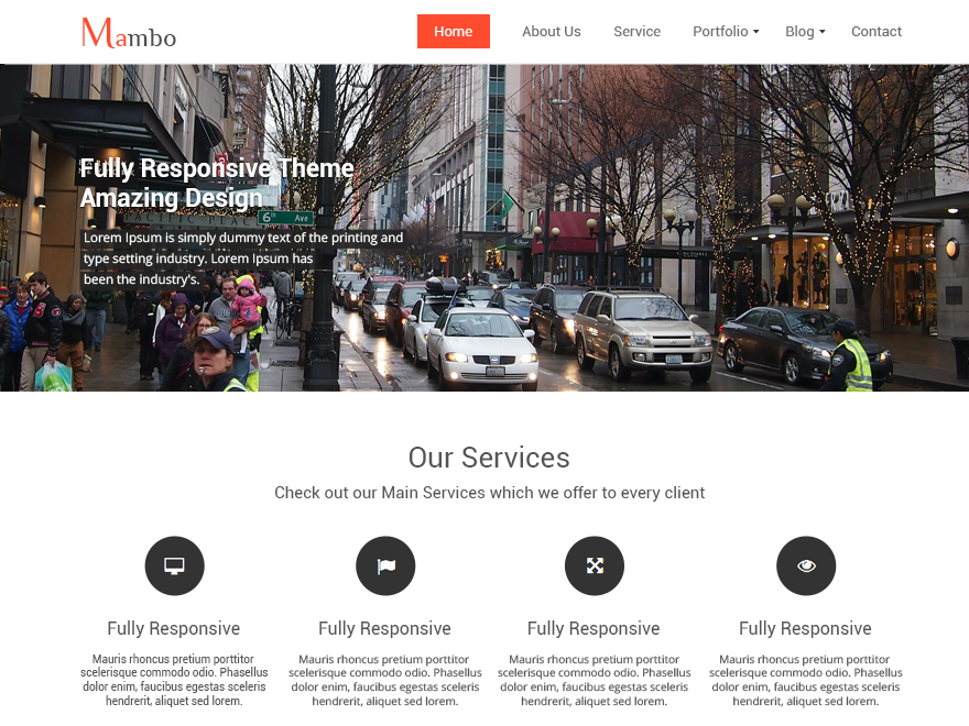 Mambo WordPress Theme