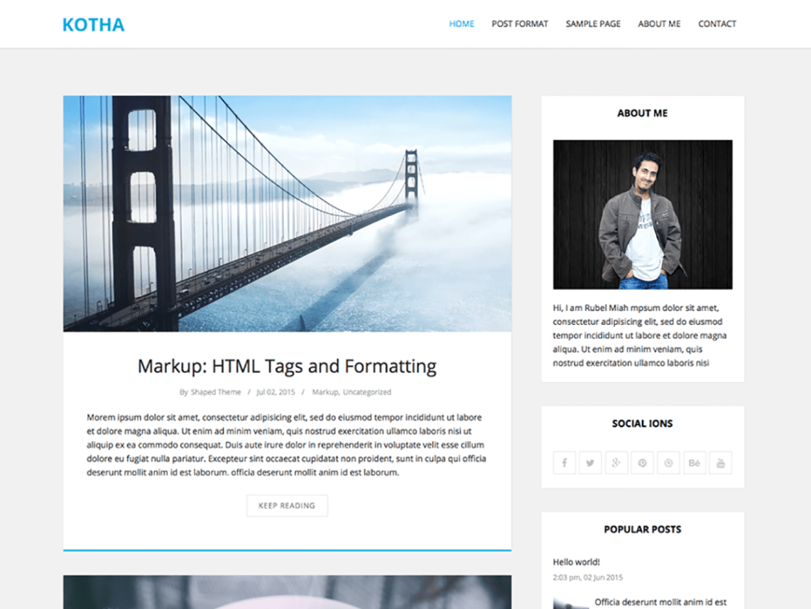 Kotha WordPress Theme