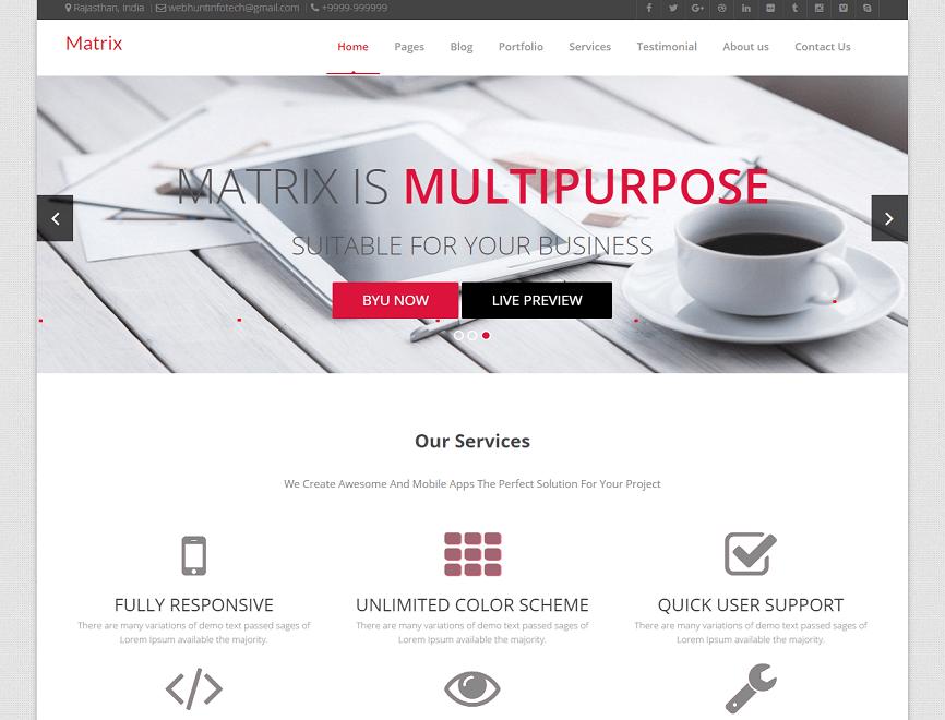Matrix WordPress Theme