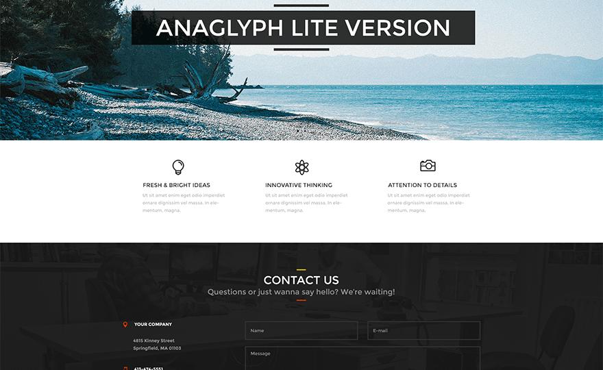 Anaglyph Lite WordPress Theme