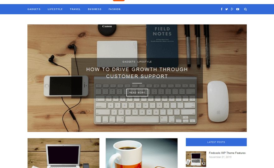 Findcools WordPress Theme
