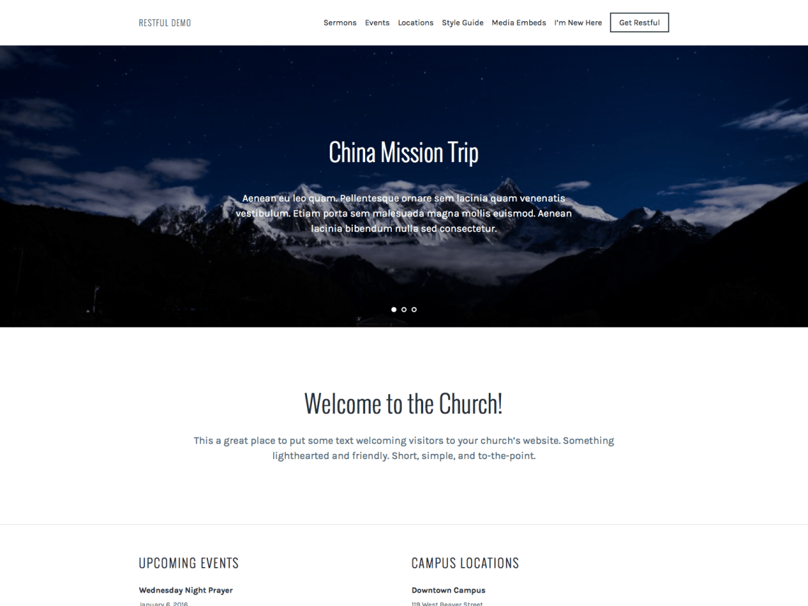 Restful WordPress Theme Download