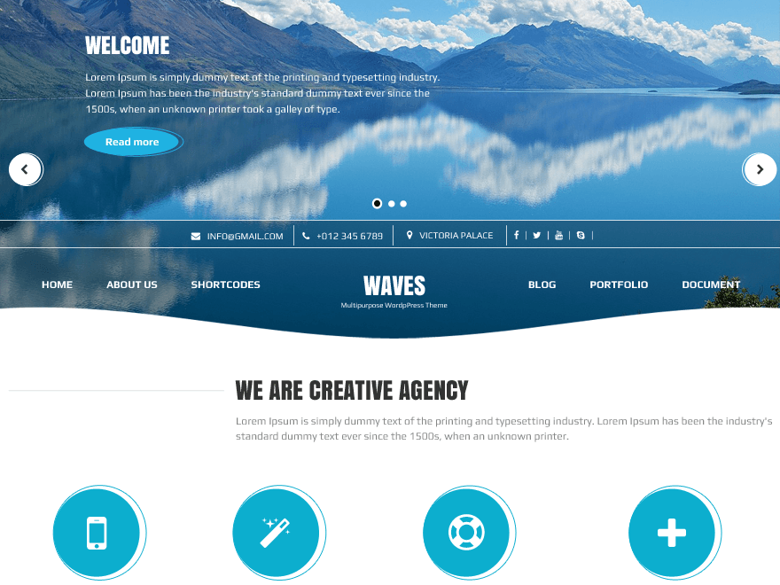 Waves WordPress Theme Download