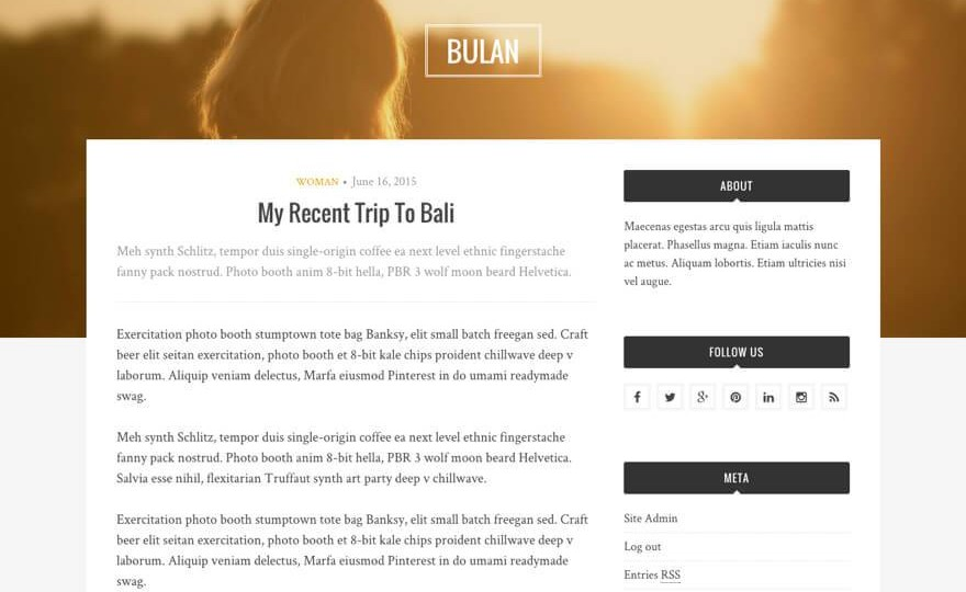 Bulan WordPress Theme Download