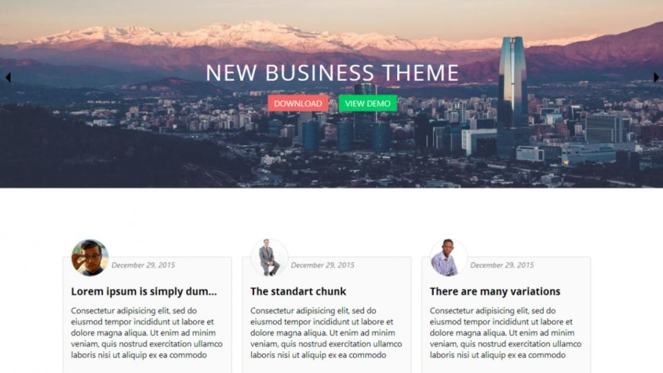 Business World WordPress Theme Download