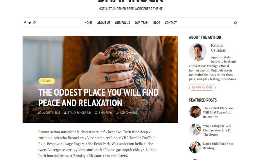 Shamrock WordPress Theme