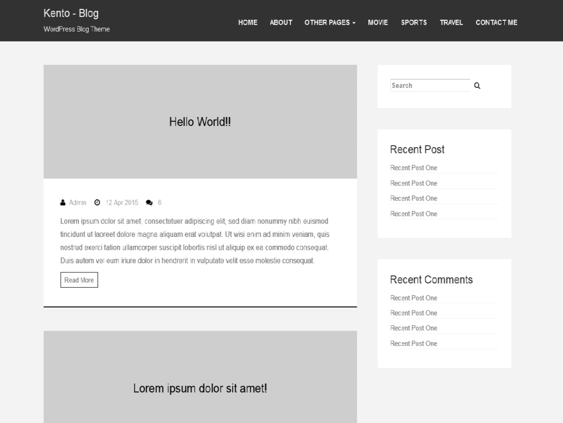 Kento-blog WordPress Theme