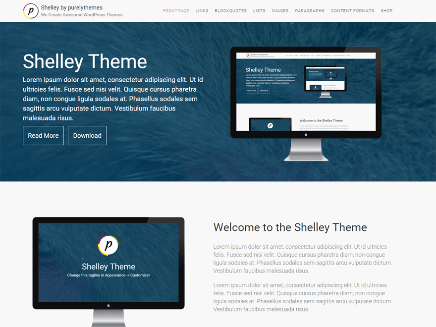 Shelley WordPress Theme